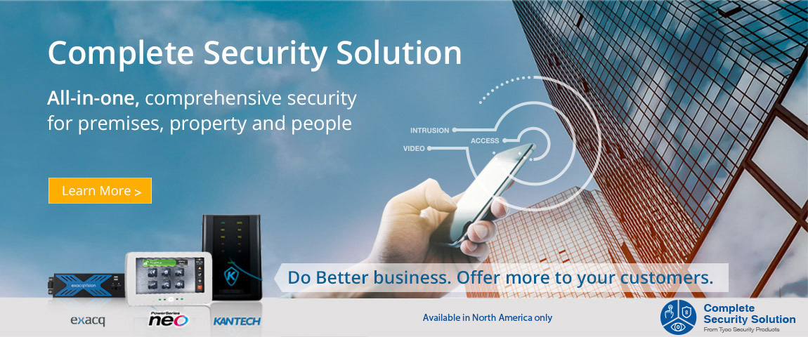 A complete security solution brought to you by exacqVision, NEO and Kantech