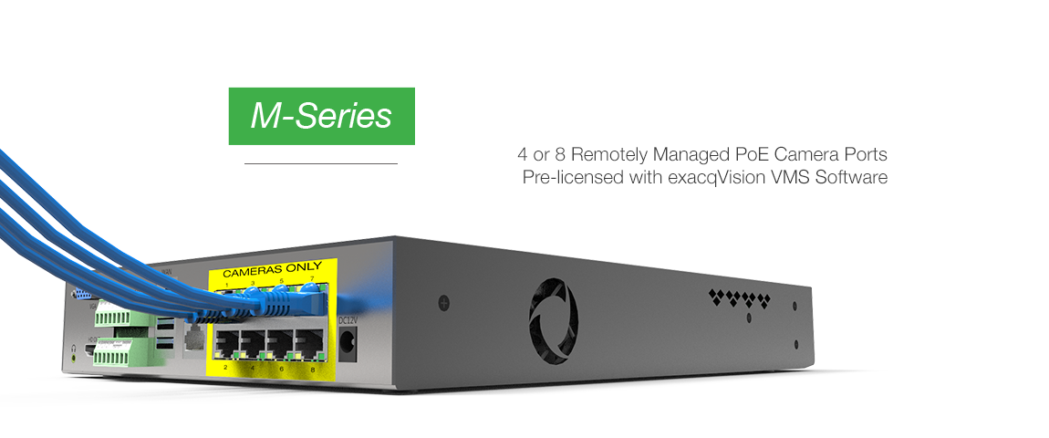 exacqVision M-Series PoE NVR Release